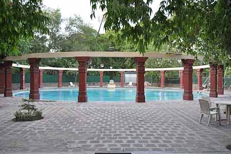 Poolside Area at Nilambagh Palace Hotel, Gujarat