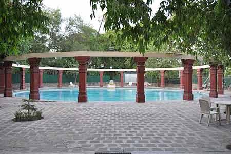 Poolside Area at Nilambagh Palace Hotel, Gujarat