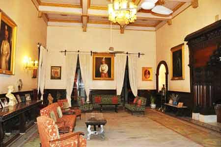 Sitting Area at Nilambagh Palace Hotel in Gujarat