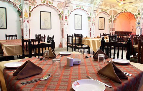 Dining of Hotel Jhalamand Garh