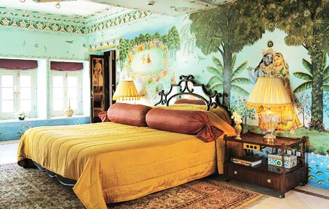 Bedroom of Taj Lake Palace