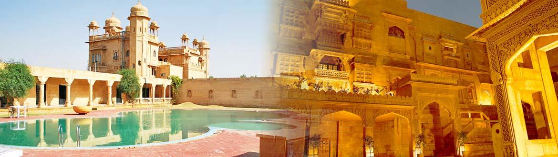 Jawahar Niwas Palace heritage hotel in Jaisalmer