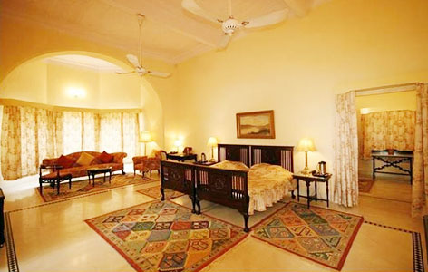 Room at Brijraj Bhavan Palace